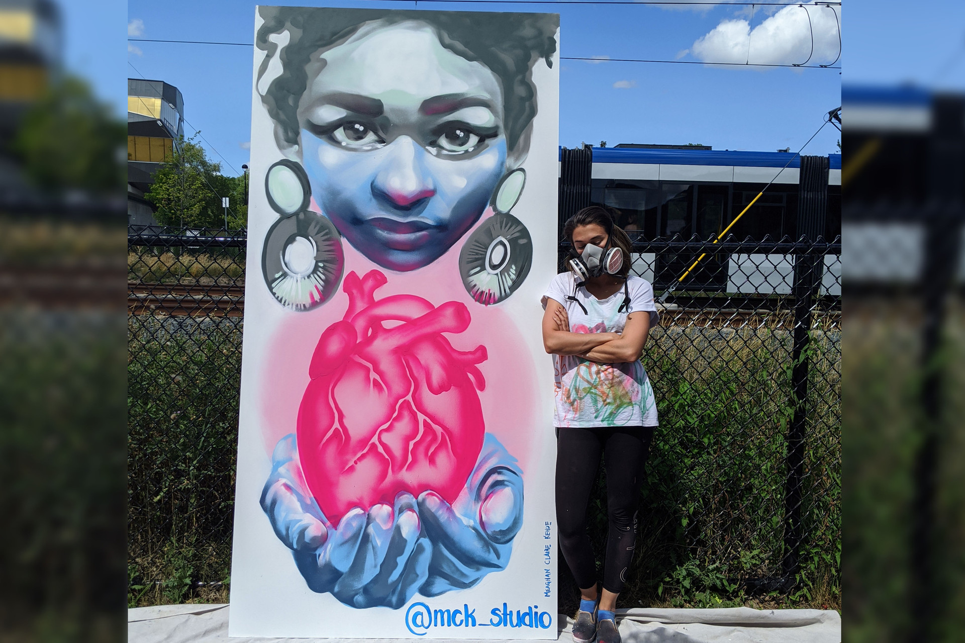 """Kitchener- """"Heart of the City"""" Covid mural_"""