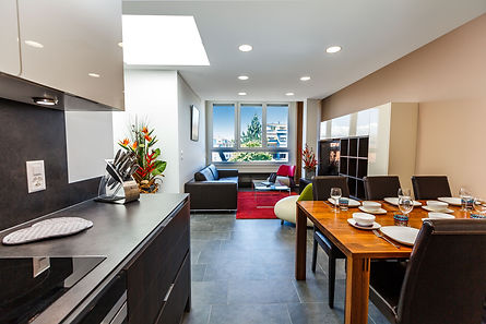 Superb interior design view from the kitchen BCC Business Center Carouge US13