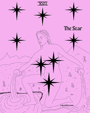The Star Tarot Card Pink