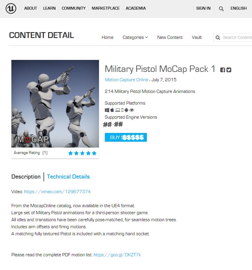 PISTOL MOCAP PACK: - UNITY3D - Chracter Animation for Game Development