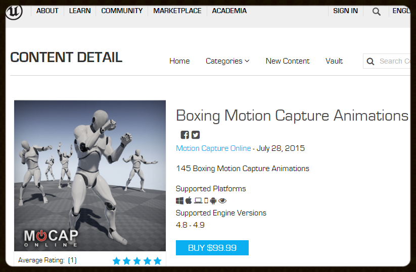 BOXING MOCAP: - UNREAL - 3D Character Animations for Game