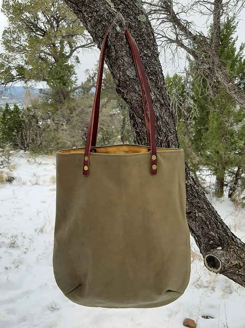 Original Tote in Olive Leather