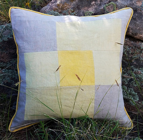 Snakeweed and Hibiscus Graphic Pillow