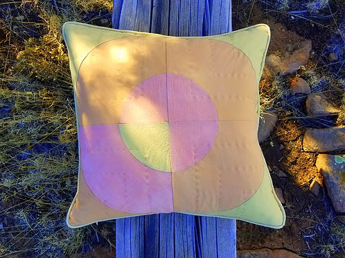 Hand-dyed Graphic Pillow-Snakeweed Madder and Annatto
