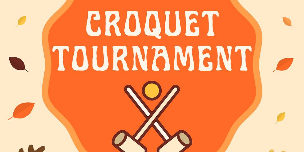 1st Annual Fundraiser Croquet Tournament