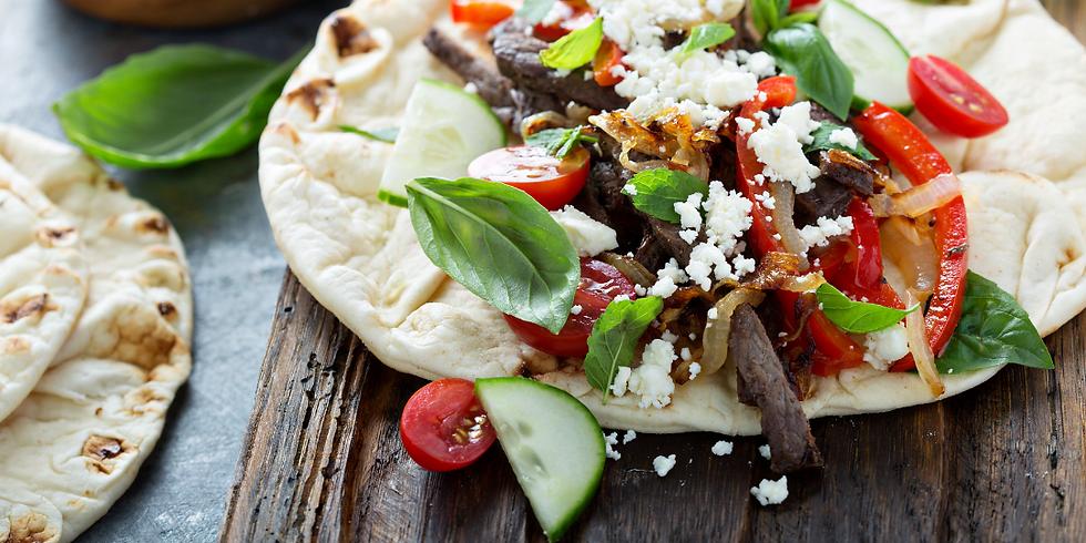 Mediterranean Grilled Veggie Wraps ~ Grilling Class