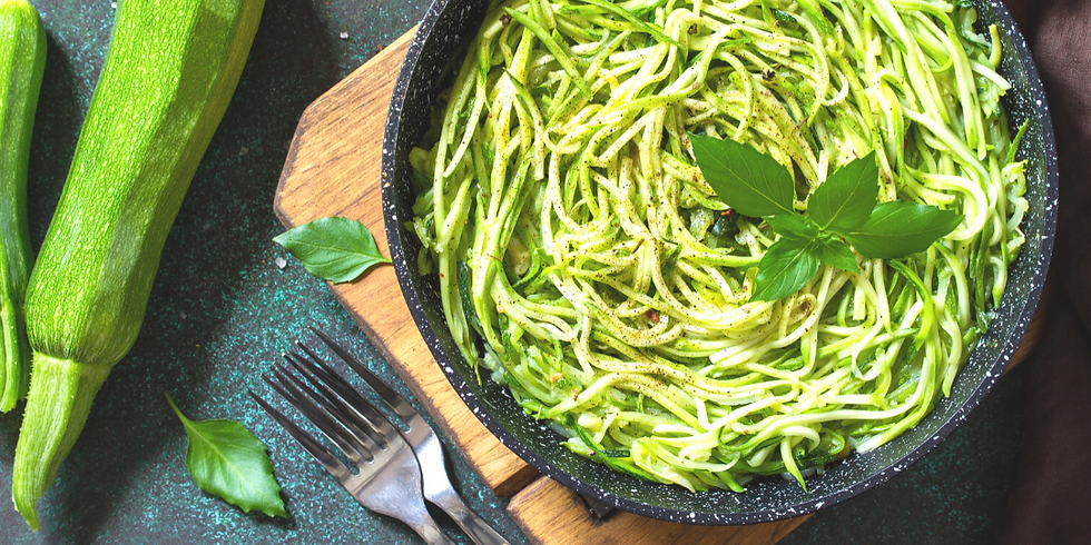 Zoodles & Fresh Pesto ~ Cooking Class