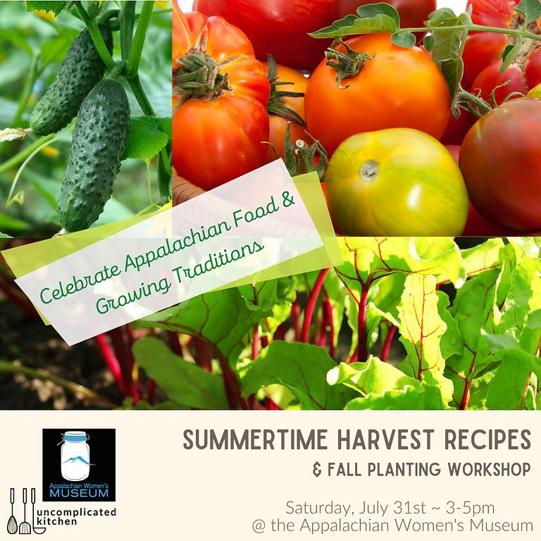Outdoor Summertime Garden to Table Workshop