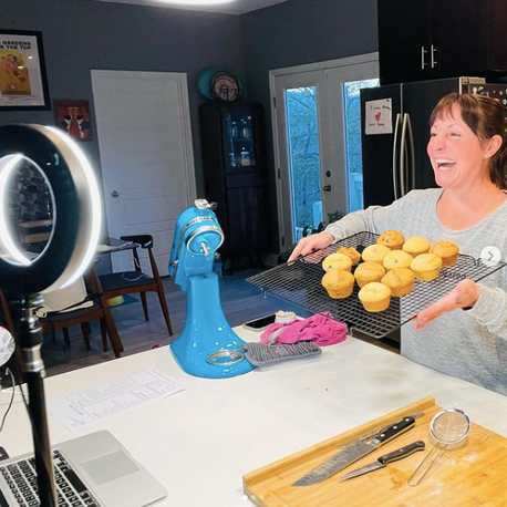 Making Ricotta Cakes on Zoom