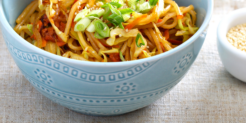 Scallion Noodles & Chili Oil-Flashed Greens ~ Cooking Class