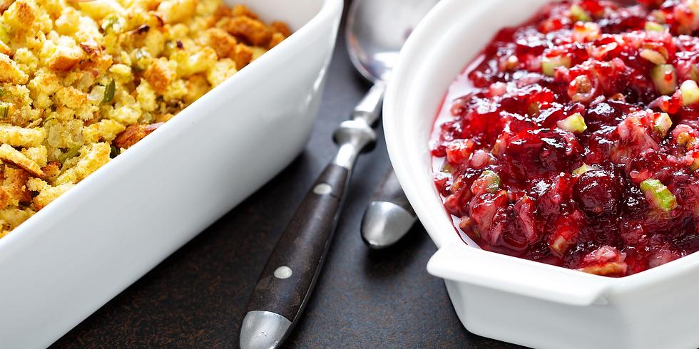 Veggie Stuffing & Fresh Cranberry Sauce ~ Thanksgiving Cooking Class