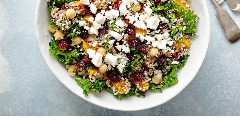 Fall Greens & Grains Bowl  ~ Cooking Class