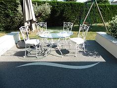 Revêtement de sol en granulats de marbre