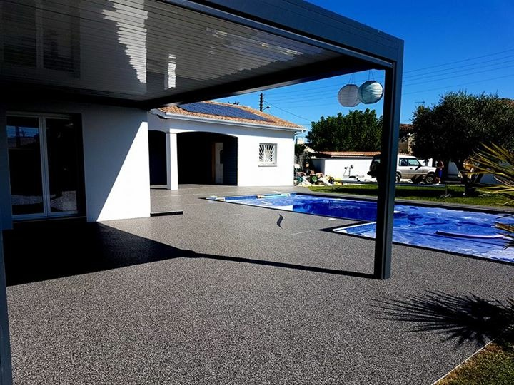Terrasse couverte à Arbanats