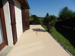 Terrasse beige rosé