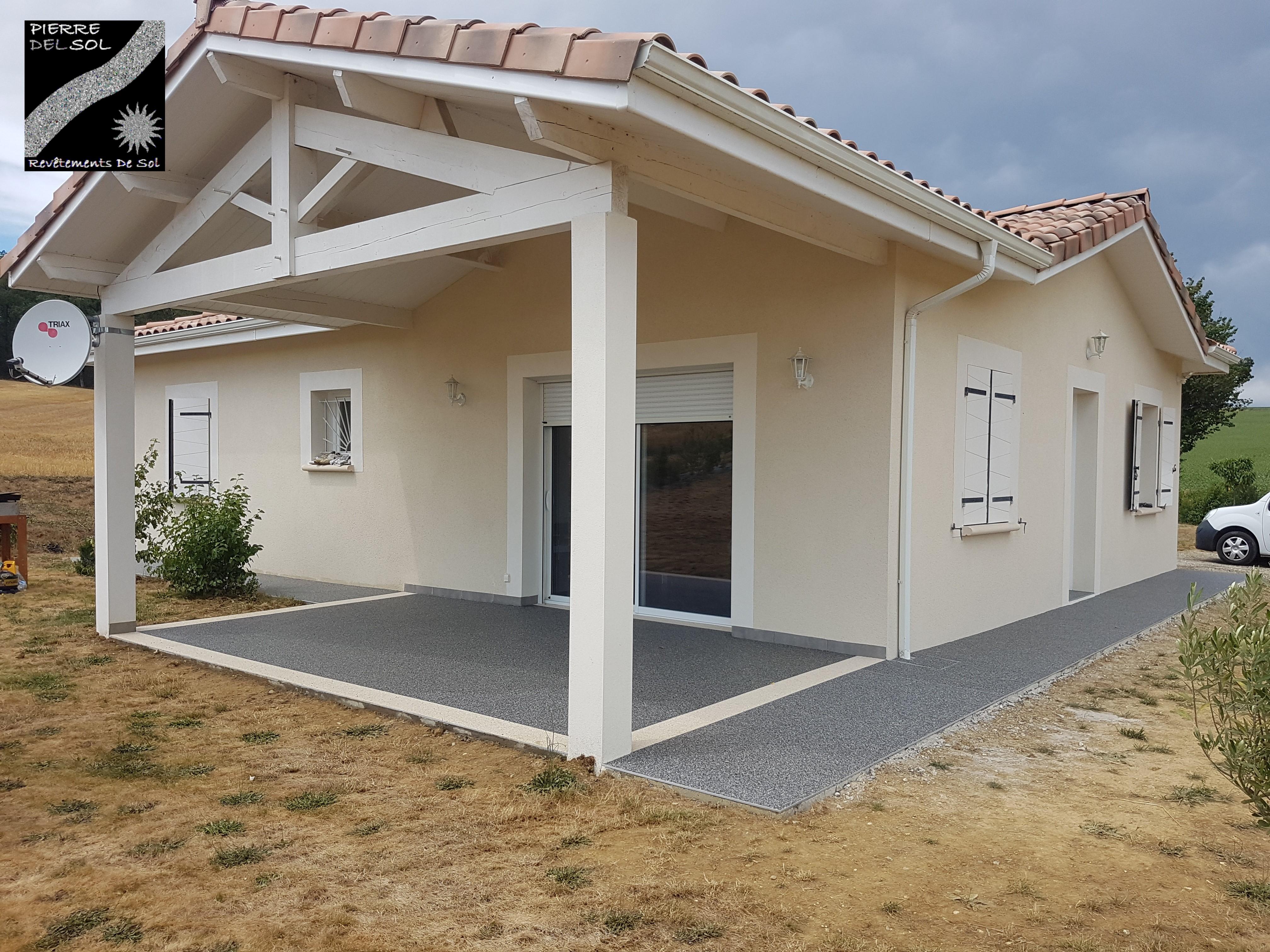 Terrasse à Puyssegur
