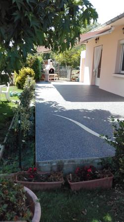 Terrasse gris foncé