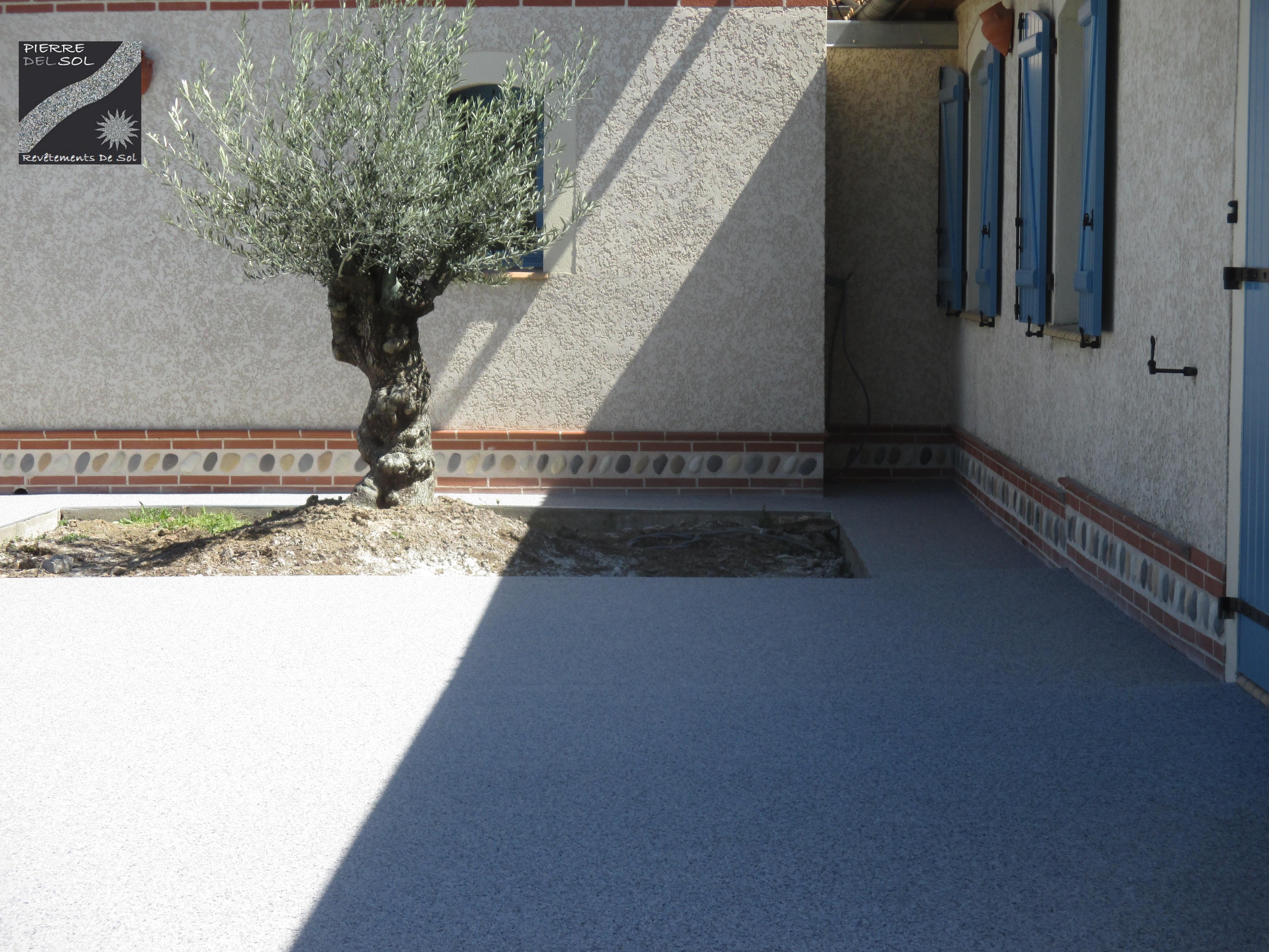 Terrasse gris bleuté