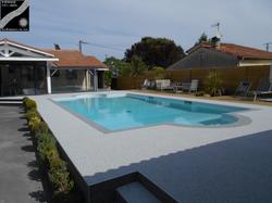 Plage piscine à Arbanats (33)