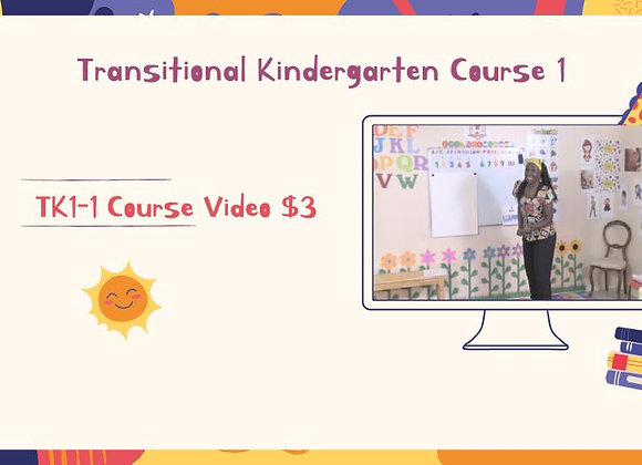 TK1-1 Course Video