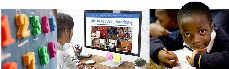 Abukutsa Arts Academy courses page collage