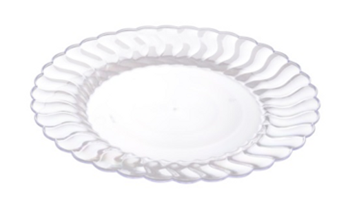 PURE: Assiette Clear à salade 7'' jetable réutilisable