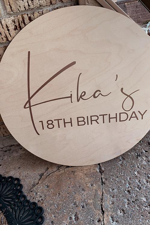 Wooden Birthday Sign