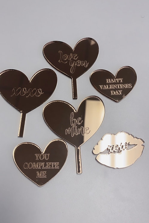 Valentines day topper collection (6pcs)