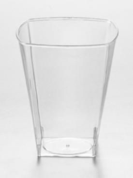 ALLURE: Verre  carré moderne transparent  8oz jetable réutilisable