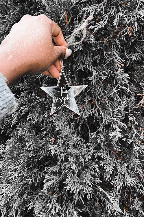 Family Name Star-Ornament