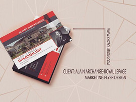 Corporate Flyer conception for Alain Arc
