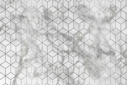 PURE: Sous-plat en papier silver rectangulaire