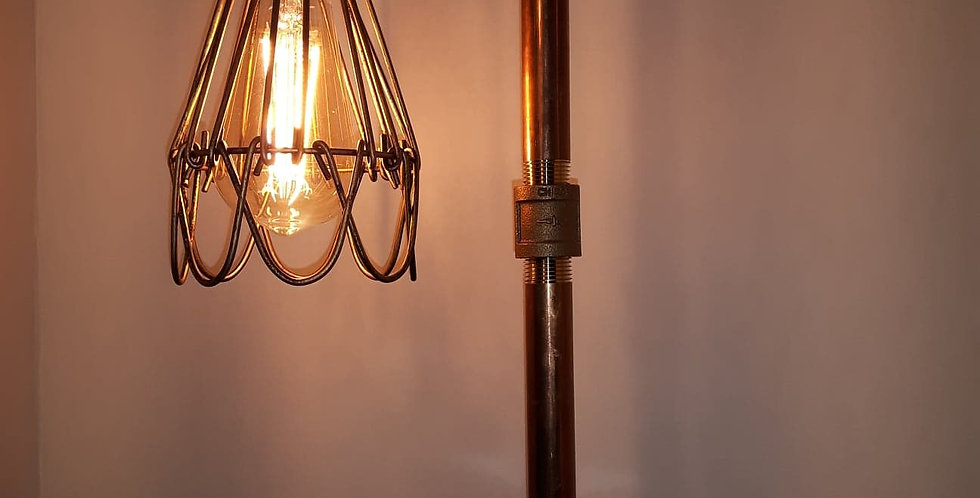 Lampe en cuivre