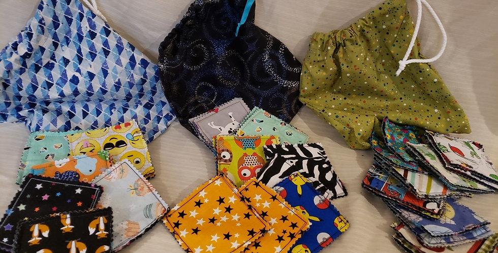 Jeux de mémoire en tissus avec sac de rangement (12 pièces)