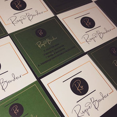 Logo and business cards designed for @ri