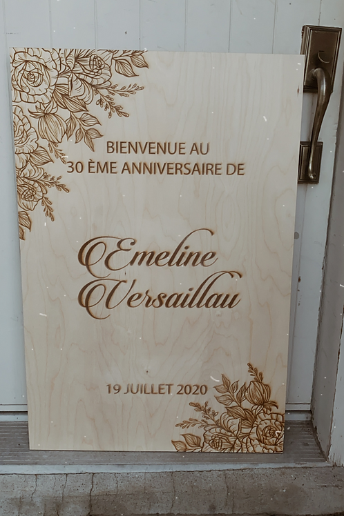 Wooden Engraved welcome sign