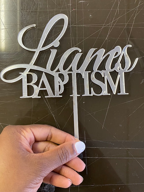 Acrylic Baptism Topper