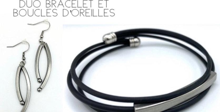 DUO bracelet et boucles d'oreilles (1)