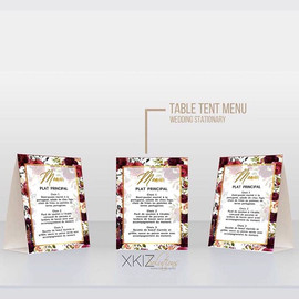 We had a blast creating these table tent
