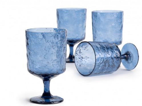 Vaisselle réutilisable en plastique de luxe:Ensemble de 4 verre à punch