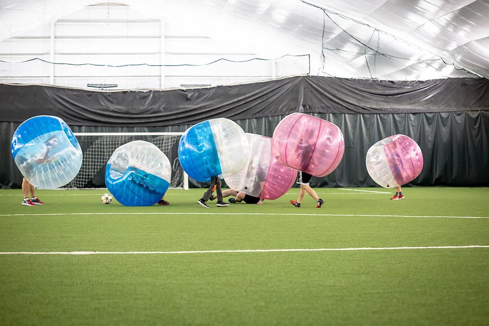 Découvrez le soccer bulle !