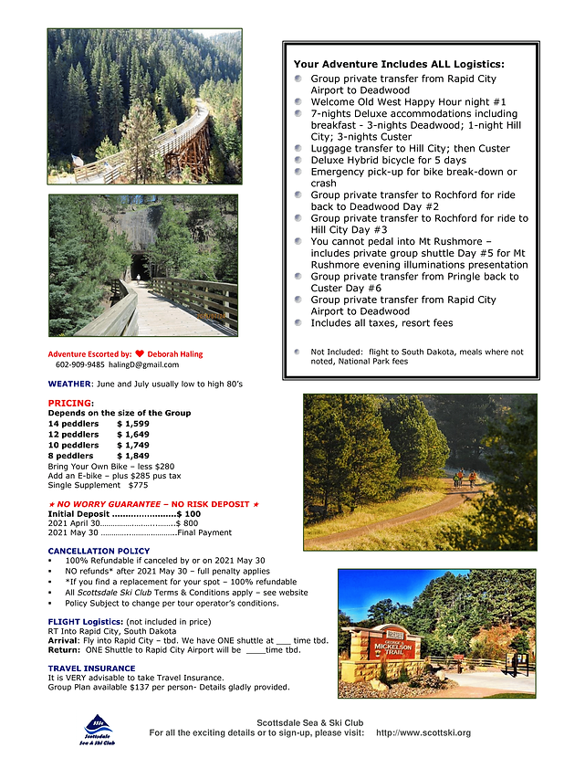2021 SSSC Bike the Black Hills SD Flyer-