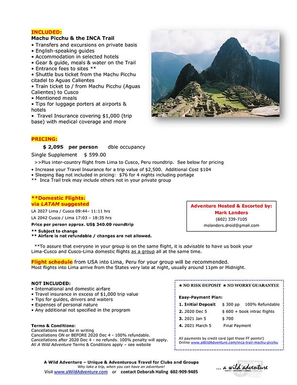 2021_05 Machu Picchu INCA Trail FLYER-2.