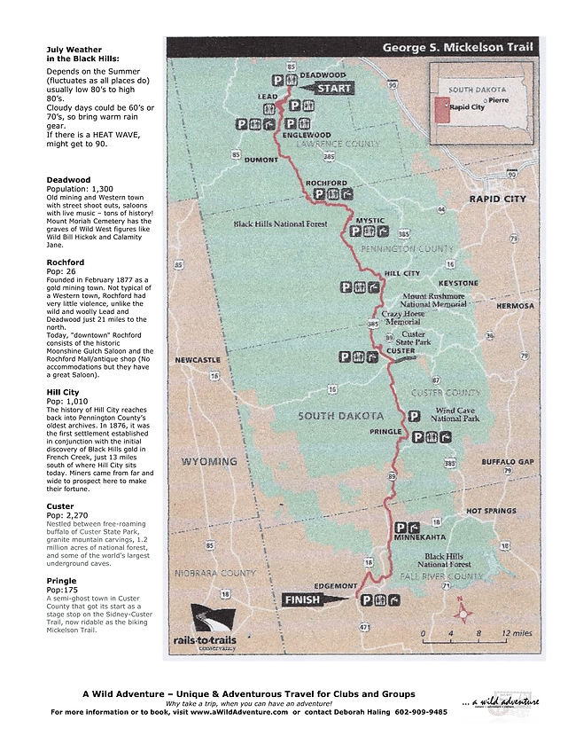 2021 Bike the Black Hills w Pamela Flyer