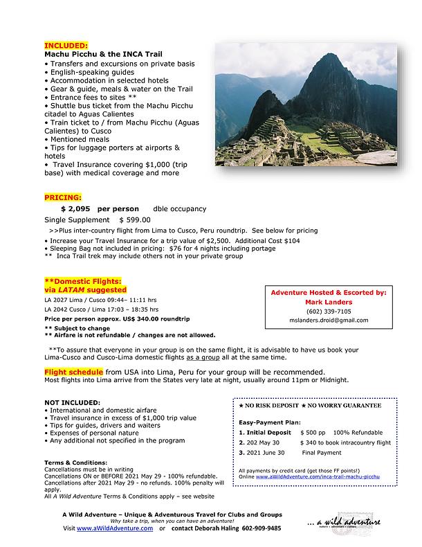 2021_09 Machu Picchu INCA Trail FLYER-2.