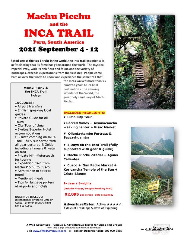 2021_09 Machu Picchu INCA Trail FLYER-1.