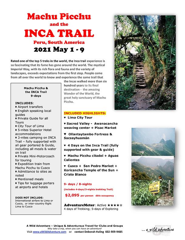2021_05 Machu Picchu INCA Trail FLYER-1.
