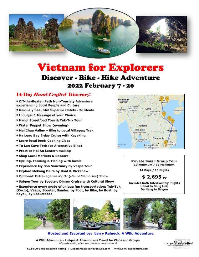 2022 Feb 7-20 Vietnam for Explorers FLYE