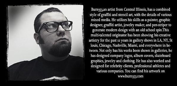 artist burn353 bio