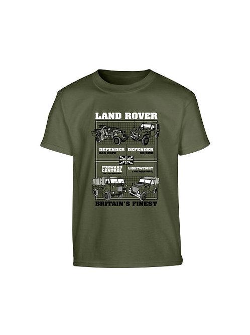 Kombat UK Kids Landrover T-shirt - Olive Green